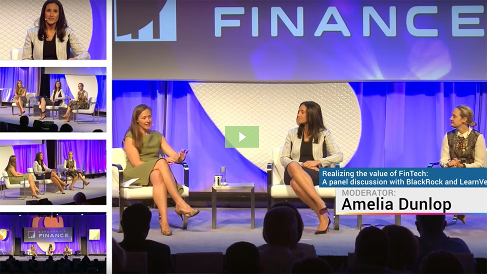 Doblin's Amelia Dunlop talks about how financial institutions are collaborating with startups at Exponential Finance 2016.