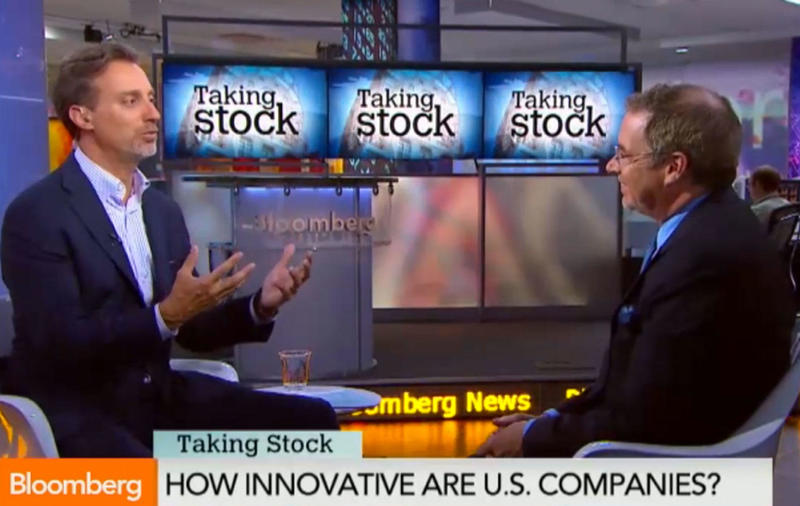 "Larry Keeley Reveals Innovation Secrets on Bloomberg TV's ""Taking Stock"""